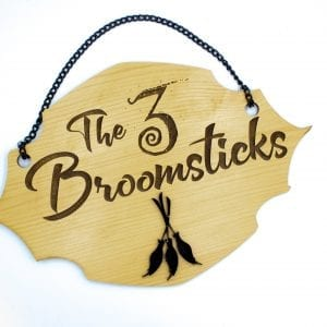 The 3 Broomsticks Wall Sign