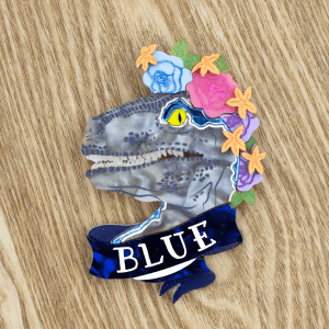 Raptor Blue Brooch